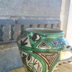 Antigüedades: JARRON DE CERAMICA DECORACION CON 3 ASAS. Lote 29945577
