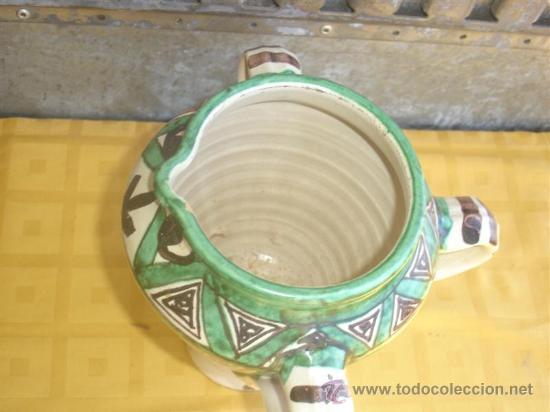 Antigüedades: jarron de ceramica decoracion con 3 asas - Foto 2 - 29945577