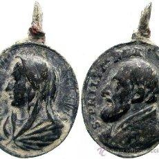 Antigüedades: SAN FELIPE NERI, ANTIGUA MEDALLA. 28 MM.. Lote 29947225
