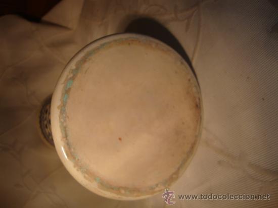 Antigüedades: ANTIGUO Y ORIGINAL JARRON DE CERAMICA DECORADA TONOS AZULADOS - Foto 5 - 29950169