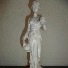 Antigüedades: PRECIOSA ESTATUA DE UNA MUJÉR ROMANA. 25 CM DE ALT.. Lote 29951839