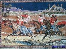 Antigüedades: Antiguo tapiz de mural motivos árabes de finales del siglo XIX - Foto 2 - 29961175