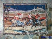 Antigüedades: Antiguo tapiz de mural motivos árabes de finales del siglo XIX - Foto 4 - 29961175