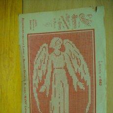 Antigüedades: EL CONSULTOR DE LOS BORDADOS LAMINA DE ENCAJES Nº 642. Lote 29964938
