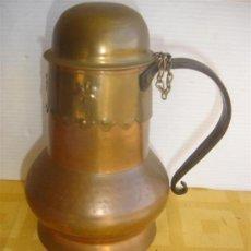 Antigüedades: JARRA DE COBRE CON TAPA. Lote 29964980