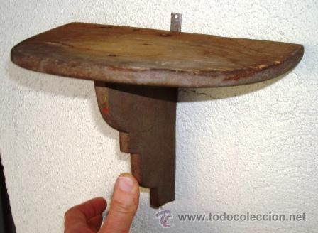 PEQUEÑA MENSULA SEMICIRCULAR. ANTIGUA (Antigüedades - Muebles Antiguos - Ménsulas Antiguas)