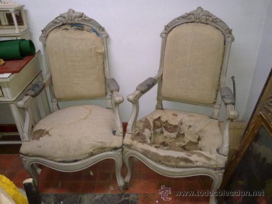 Sillones isabelinos sxix comprar sillones antiguos en todocoleccion 29974307 - Sillones antiguos restaurados ...
