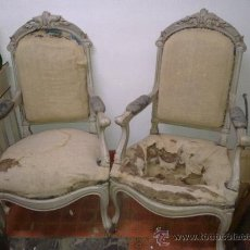 Antigüedades: SILLONES ISABELINOS SXIX. Lote 29974307