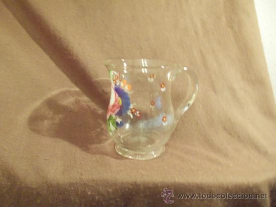 Antigüedades: preciosa jarra de cristal siglo XVIII O PPS. xix - Foto 2 - 29979437