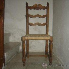 Antigüedades: SILLA CON ASIENTO DE PITA O ESPARTO. AÑOS 50.. Lote 36760973