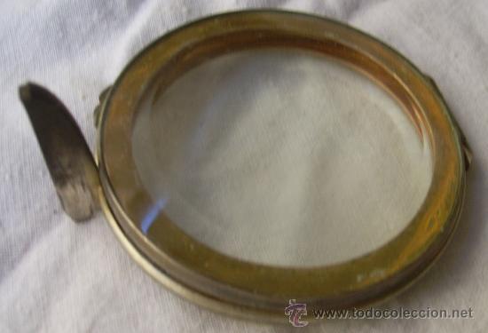 Antigüedades: Custodia / Sagrario/ Relicario, de bronce dorado. Siglo XIX. - Foto 8 - 30003602