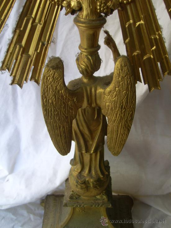 Antigüedades: Custodia / Sagrario/ Relicario, de bronce dorado. Siglo XIX. - Foto 10 - 30003602