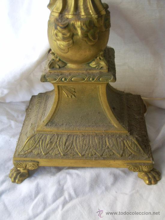 Antigüedades: Custodia / Sagrario/ Relicario, de bronce dorado. Siglo XIX. - Foto 11 - 30003602