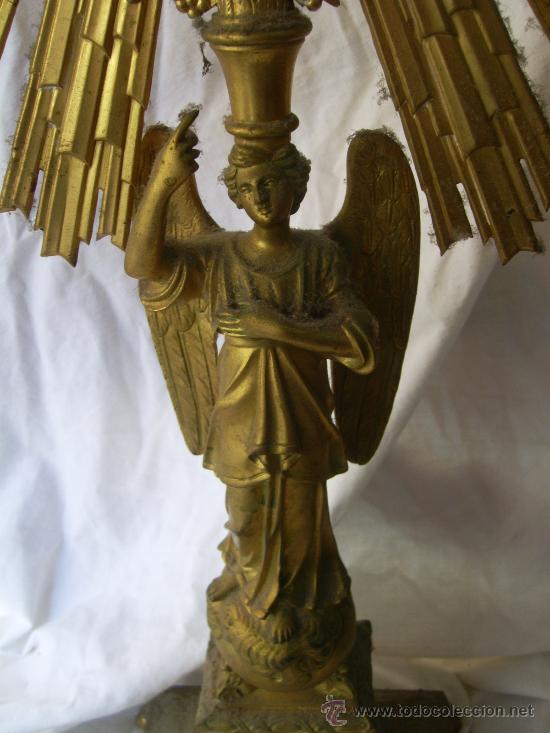 Antigüedades: Custodia / Sagrario/ Relicario, de bronce dorado. Siglo XIX. - Foto 13 - 30003602