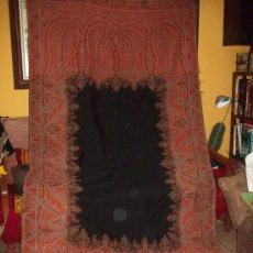 Antigüedades: MANTON DE LANA DE MERINO Y SEDA. Lote 30021943