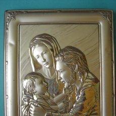 Antigüedades: SAGRADA FAMILIA DE PLATA CONTRACTADA, REALIZADA EN RELIEVE Y ENMARCADA. DIM.- 14X18,250 CMS.. Lote 30034001