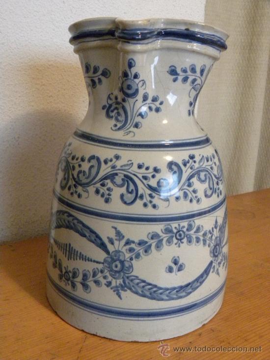 Antigüedades: Jarra vinatera ,cerámica Talavera Ruiz de Luna con escudo fabrica. - Foto 3 - 30062354