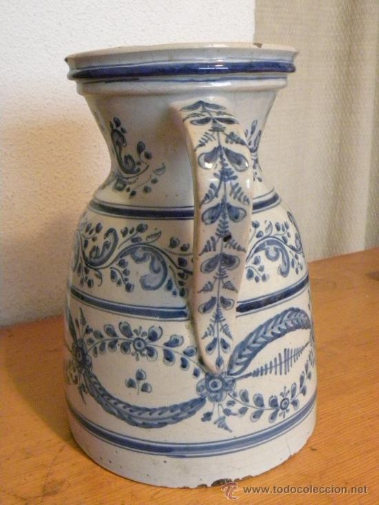 Antigüedades: Jarra vinatera ,cerámica Talavera Ruiz de Luna con escudo fabrica. - Foto 4 - 30062354
