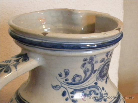 Antigüedades: Jarra vinatera ,cerámica Talavera Ruiz de Luna con escudo fabrica. - Foto 5 - 30062354