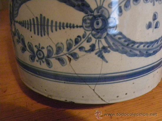Antigüedades: Jarra vinatera ,cerámica Talavera Ruiz de Luna con escudo fabrica. - Foto 7 - 30062354