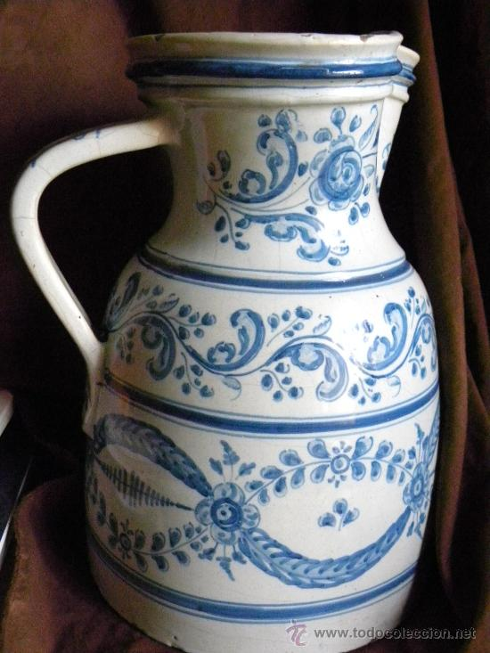 Antigüedades: Jarra vinatera ,cerámica Talavera Ruiz de Luna con escudo fabrica. - Foto 11 - 30062354
