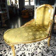 Antigüedades: PRECIOSA CHAISELONGUE- SOFA -SILLON. Lote 30099773