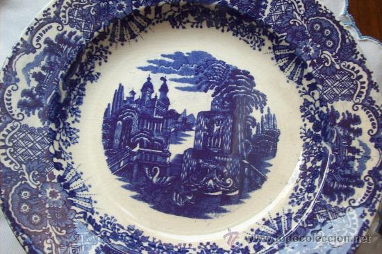 12 PLATOS LA CARTUJA PICKMAN (Antigüedades - Porcelanas y Cerámicas - La Cartuja Pickman)