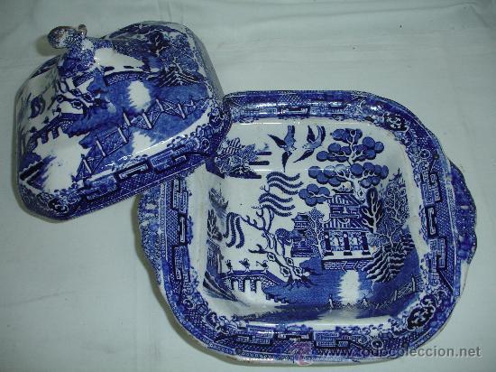 Antigüedades: Preciosa legumbrera Chinablue / siglo XIX - Foto 3 - 30254519