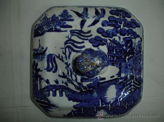 Antigüedades: Preciosa legumbrera Chinablue / siglo XIX - Foto 7 - 30254519