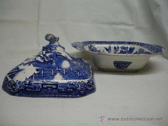 Antigüedades: Preciosa legumbrera Chinablue / siglo XIX - Foto 8 - 30254519