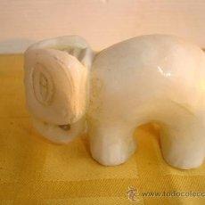 Antigüedades: PEQUEÑO ELEFANTE DE ALABASTRO. Lote 30095457