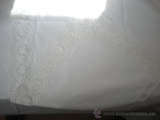 Antigüedades: Juego de cama GR HERMINIA semilino&encaje de bolillos Camariñas, REGALO tapete de 36e, 3mX2,5m. - Foto 10 - 29128069