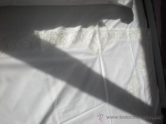 Antigüedades: Juego de cama GR HERMINIA semilino&encaje de bolillos Camariñas, REGALO tapete de 36e, 3mX2,5m. - Foto 11 - 29128069