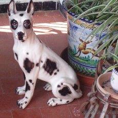 Antigüedades: GRAN PERRO TIPO DOGO, MUY REAL. /// GRANDE, 50 CM DE ALTO /// PORCELANA, CERÁMICA ///. Lote 37771957
