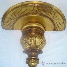 Antigüedades: MENSULA DE MADERA GRANDE DORADA. Lote 30109258