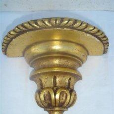 Antigüedades: MENSULA DE MADERA DORADA. Lote 30109310