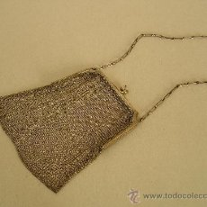 Antigüedades: BOLSO DE FIESTA. MALLA DE PLATA DE LEY.. Lote 30123882