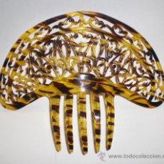 Antigüedades: PEINETA ANTIGUA. PRINCIPIOS DEL S.XX. CALADA EN SIMIL DE CAREY.. Lote 30144082