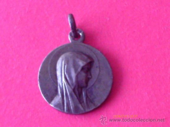 MEDALLA DE LA VIRGEN DE LOURDES (Antigüedades - Religiosas - Medallas Antiguas)