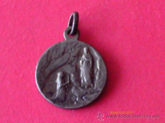 Antigüedades: MEDALLA DE LA VIRGEN DE LOURDES - Foto 2 - 30163510