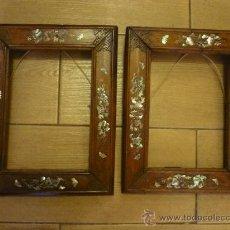 Antigüedades - Pareja de marcos con incrustaciones de nácar - 30169574