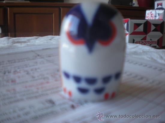BUHO DORMILON DE CASTRO-SARGADELOS (5 CM). EN . (Antigüedades - Porcelanas y Cerámicas - Sargadelos)