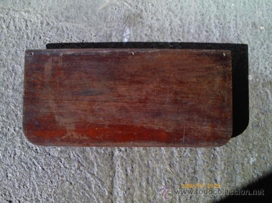 REPISA-BASE-PLATAFORMA . MADERA DE CAOBA (Antigüedades - Muebles Antiguos - Repisas Antiguas)