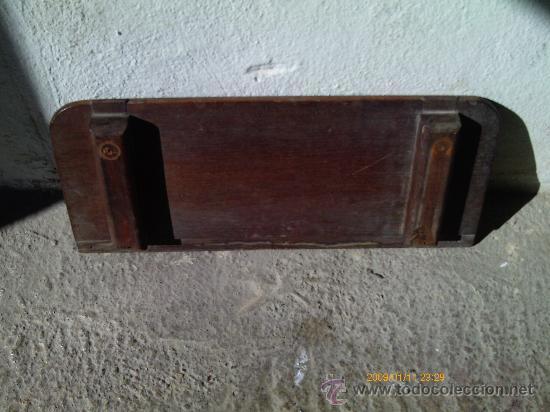 Antigüedades: REPISA-BASE-PLATAFORMA . MADERA DE CAOBA - Foto 3 - 30177924