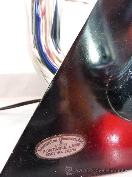 Antigüedades: LAMPARA ART DECO USA 1939 UNDERWRITERS LABORATORIES INC. - Foto 2 - 30184879