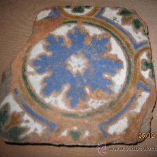 Antigüedades: AZULEJO ANTIGUO DE TOLEDO - RENACIMIENTO : SIGLO XVI - ARISTA O CUENCA -. Lote 30207658