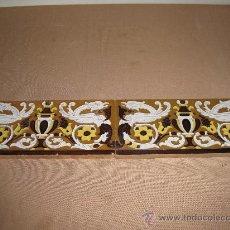 Antigüedades: LOTE DE DOS AZULEJOS DE TRIANA. AZULEJO.. Lote 30209068