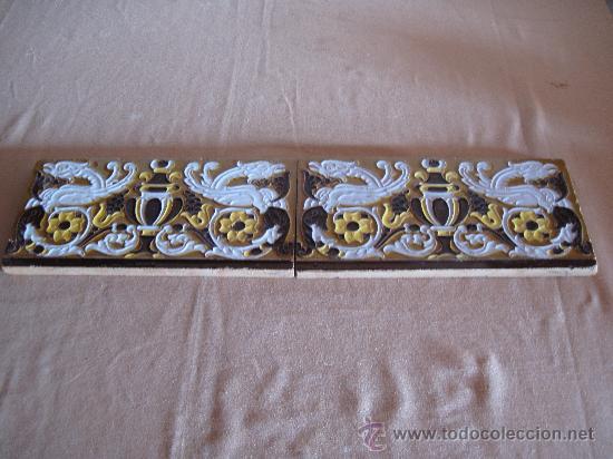LOTE DE DOS AZULEJOS ANTIGUOS DE TRIANA - SEVILLA - (Antigüedades - Porcelanas y Cerámicas - Triana)