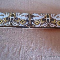 Antigüedades: LOTE DE DOS AZULEJOS DE TRIANA / SEVILLA - DRAGONES -. Lote 30209423
