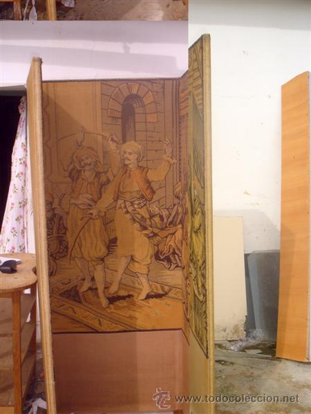 Antigüedades: biombo en tapiz arabe - Foto 2 - 30215701